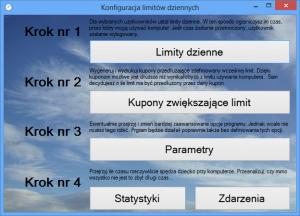 Ekran edytora limitów